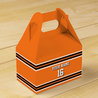 Pumpkin Orange Blk Team Jersey Custom Number Name Favour Box