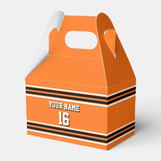 Pumpkin Orange Blk Team Jersey Custom Number Name Wedding Favour Box