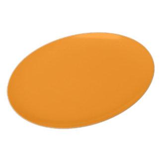 Pumpkin Orange Creepy Hollow Halloween Plate