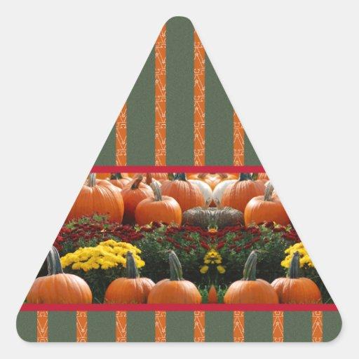 Pumpkin orange green Thanksgiving Autumn Harvest Sticker