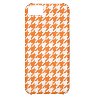 Pumpkin Orange White Houndstooth Pattern #2M iPhone 5C Cover