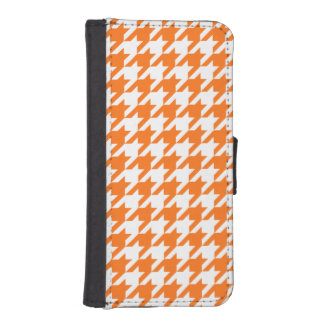 Pumpkin Orange White Houndstooth Pattern #2M Phone Wallet Cases