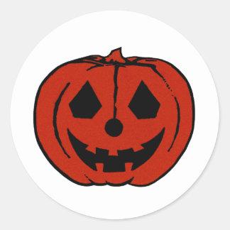 PUMPKIN PAL (Halloween Jack-O-Lantern) ~~ Round Sticker