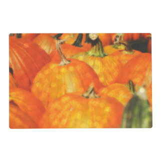 """Pumpkin Patch Bling"" Laminated Placemat"