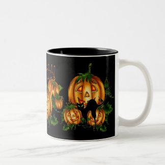 PUMPKIN PATCH!  by SHARON SHARPE Two-Tone Coffee Mug