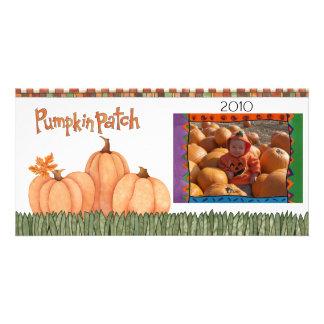 pumpkin patch custom photo card