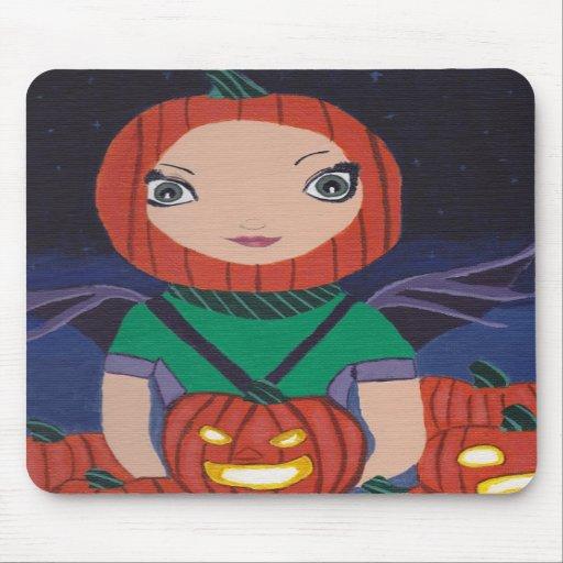 Pumpkin Patch Fairy Mouse Pad