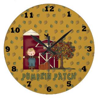Pumpkin Patch Fall Clock