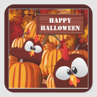 Pumpkin Patch Funny Halloween Stickers