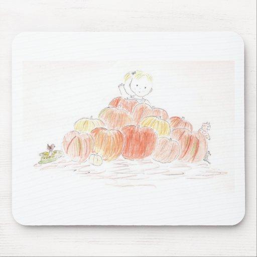 Pumpkin Patch Girl Mousepads