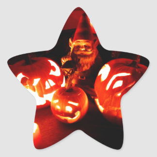 Pumpkin Patch Gnome I Star Sticker