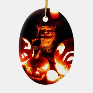 Pumpkin Patch Gnome III Ceramic Oval Decoration
