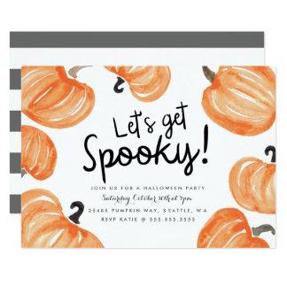 Pumpkin Patch Halloween Party Card
