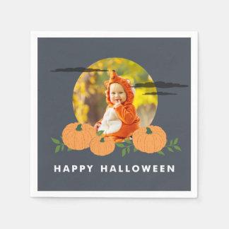 Pumpkin Patch Halloween Photo Paper Napkins