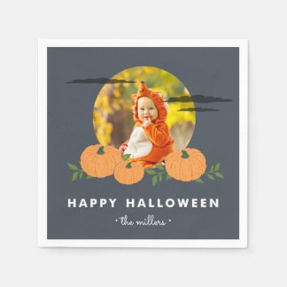Pumpkin Patch Halloween Photo Paper Serviettes