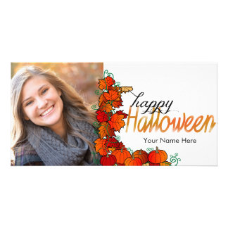 Pumpkin Patch Happy Halloween | Photo Card