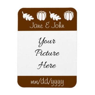Pumpkin Patch in Chocolate Save-the-Date Magnet