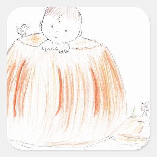 Pumpkin Patch Kid Square Sticker