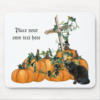 Pumpkin patch Kitty Halloween mousepad