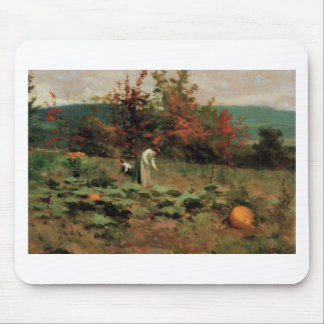 pumpkin-patch mouse pad