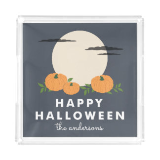 Pumpkin Patch Personalized Halloween Acrylic Tray