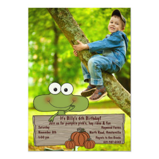 Pumpkin Patch - Photo Birthday Invitation