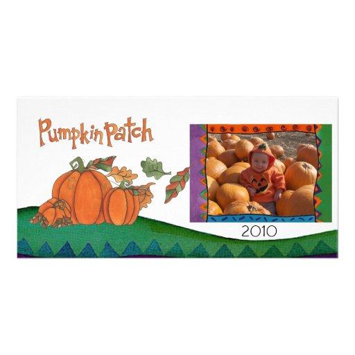 pumpkin patch photo greeting card