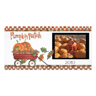 pumpkin patch photo greeting card