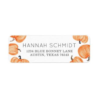 Pumpkin Patch Return Address Label