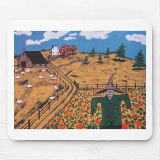 Pumpkin Patch Scarecrow Mouse Pad