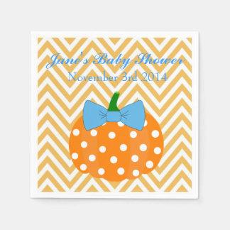 Pumpkin Patch Themed Boy Baby Shower Napkins Paper Serviettes