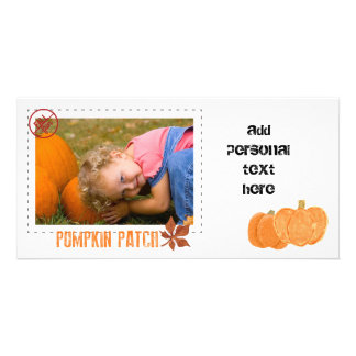 pumpkin patch with sepia overlay photo cards