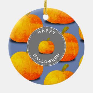 Pumpkin Pattern Halloween Christmas Ornament