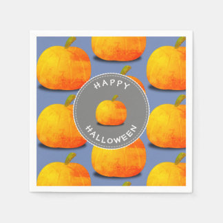 Pumpkin Pattern Halloween Disposable Napkins