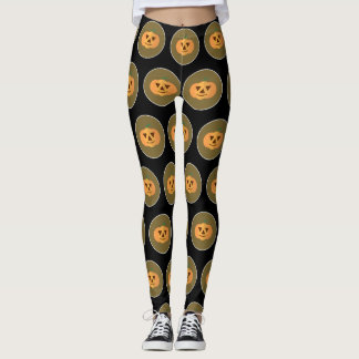 Pumpkin Pattern Halloween Leggings