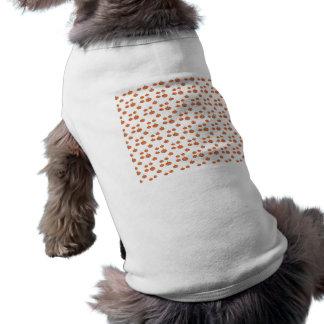 Pumpkin pattern in orange and white sleeveless dog shirt