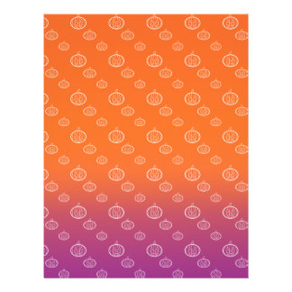Pumpkin pattern on purple orange fade 21.5 cm x 28 cm flyer