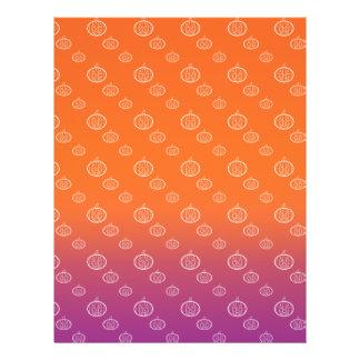 Pumpkin pattern on purple orange fade flyer