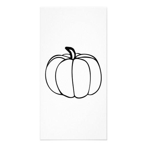 Pumpkin Customized Photo Card