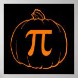 Pumpkin Pi (pie) Mathematics Humour Poster