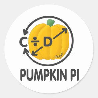 Pumpkin Pi Round Sticker