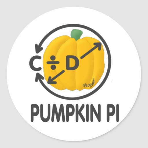 Pumpkin Pi Round Stickers