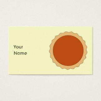 Pumpkin Pie. Business Card