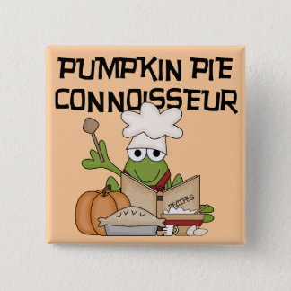 Pumpkin Pie Connoisseur Tshirts and Gifts 15 Cm Square Badge