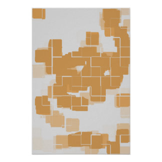 """Pumpkin Pie"" Geometric  Art Poster"