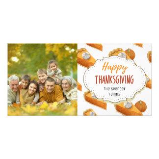Pumpkin Pie Happy Thanksgiving Photo Card