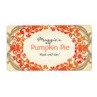 Pumpkin Pie Labels, Customise