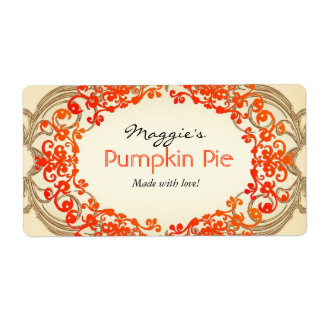 Pumpkin Pie Labels, Customize Shipping Label