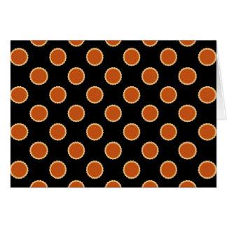 Pumpkin Pie Pattern. Card