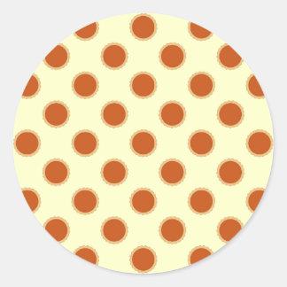 Pumpkin Pie Pattern. Classic Round Sticker